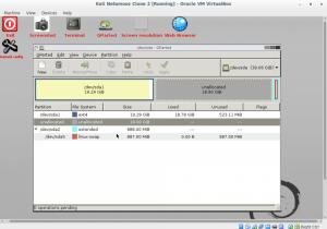 تغییر اندازه هارد در لینوکس با GParted