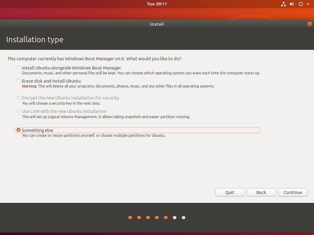 آموزش نصب Ubuntu 18.04 در کنار Windows