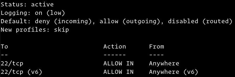 آموزش کانفیگ فایروال با UFW در اوبونتو 18.04