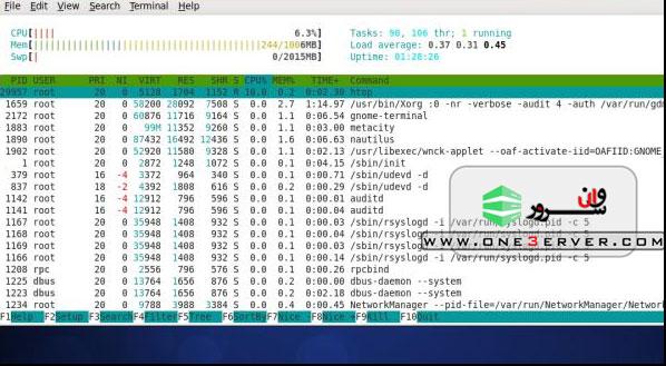 دستورات مانیتورینگ سرور های لینوکس