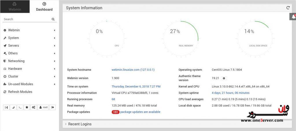 آموزش نصب Webmin در CentOS 7