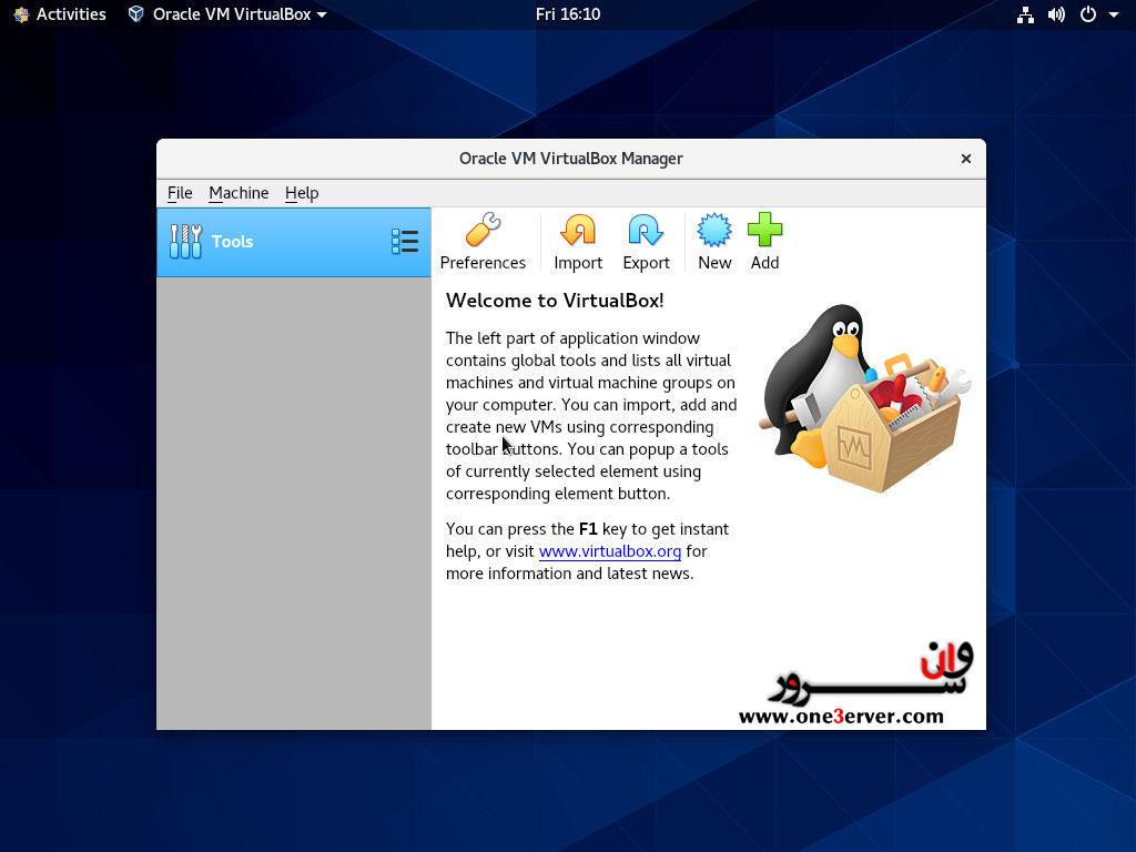 آموزش نصب VirtualBox در CentOS 8