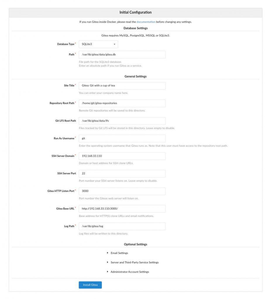 آموزش نصب Gitea در اوبونتو 18.04