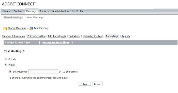 آموزش ذخیره کردن کلاس در ادوب کانکت (Adobe Connect)