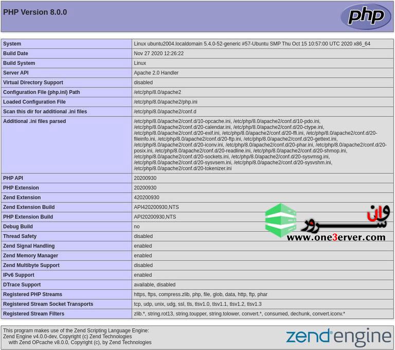 آموزش نصب PHP 8 در اوبونتو 20.04 Ubuntu